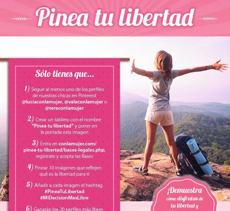 Conlamujer.com lanza el concurso #PineaTuLibertad en Pinterest